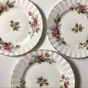 3 Vintage Small Plates by Royal Albert